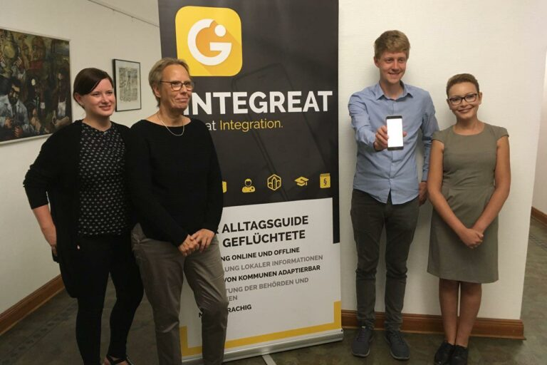 Pressekonferenz der Integreat-App in Herne